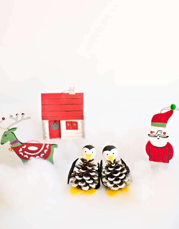 Pine Cone Penguin Ornament Christmas Craft