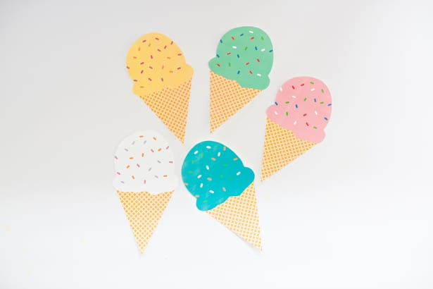 image about Ice Cream Cone Template Free Printable named Absolutely free PRINTABLE ICE Product CONE GARLAND