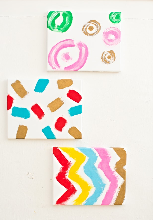 Diy Kid Made Fabric Canvas Painting