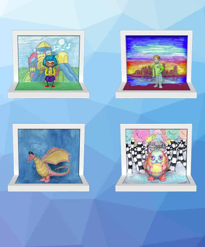 PRINT YOUR CHILD\'S ART WITH KIDS CREATION STATION