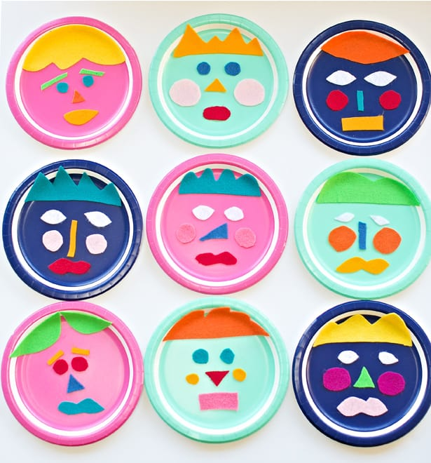 Mix and Match Felt Paper Plate Faces (via hello Wonderful) Teach kids how to communicate their emotions with this fun paper plate faces activity.  sc 1 st  Hello Wonderful & 11 CREATIVE PAPER PLATE CRAFTS