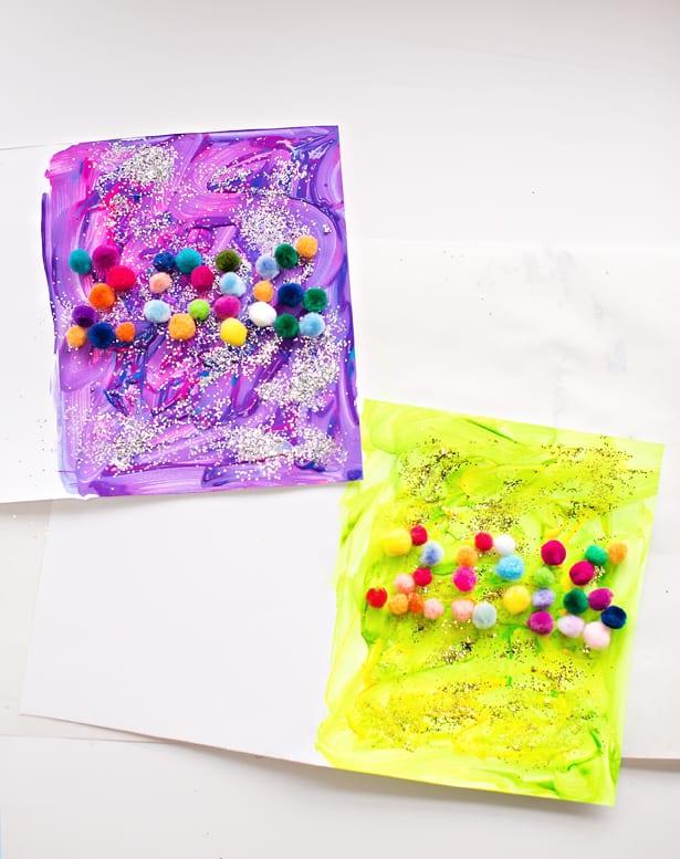 Pom Pom New Year Art Craft For Kids