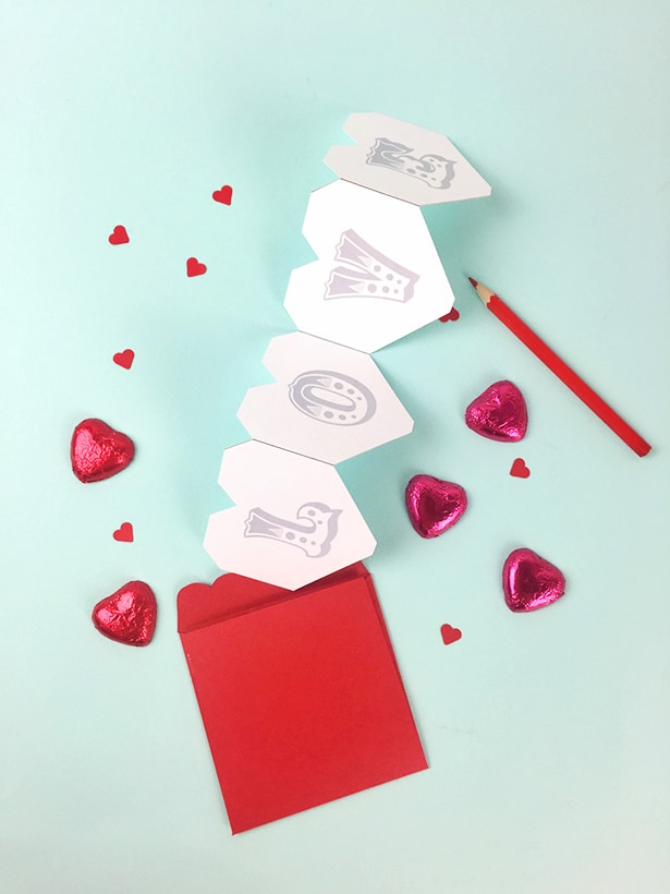 hello Wonderful VALENTINE ACCORDION CARD AND FAVOR FREE PRINTABLE – Free Valentine Card