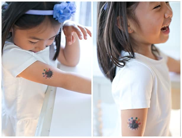 Make temporary tattoos out of kids 39 art for How to make a tattoo painless