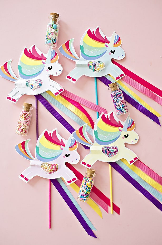 DIY Unicorn Wand, so cute!