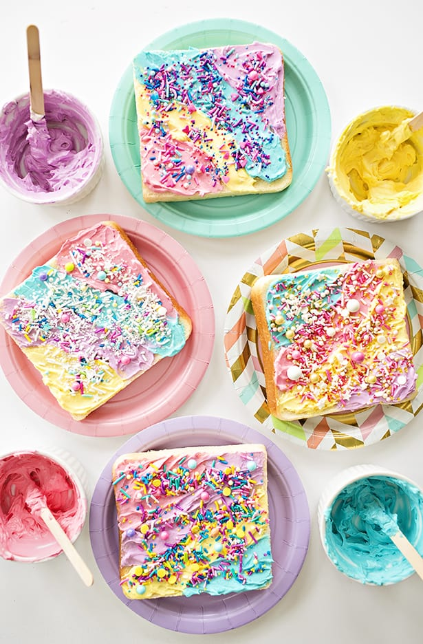 How To Make Rainbow Unicorn Toast