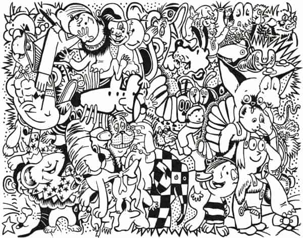 COLORING PAGE ART PRINT THAT SUPPORTS LITERACY
