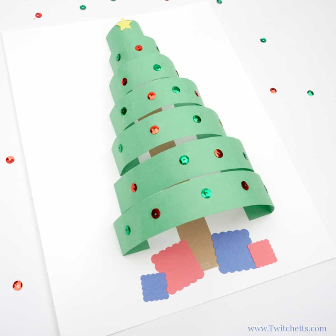 Paper Christmas Tree.10 Artsy Christmas Tree Projects For Kids