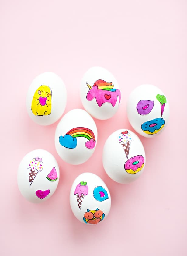 Cute Easter Egg Sticker Art Printablbe Coloring