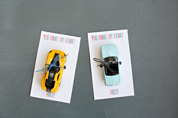 Race Car Valentine Cards