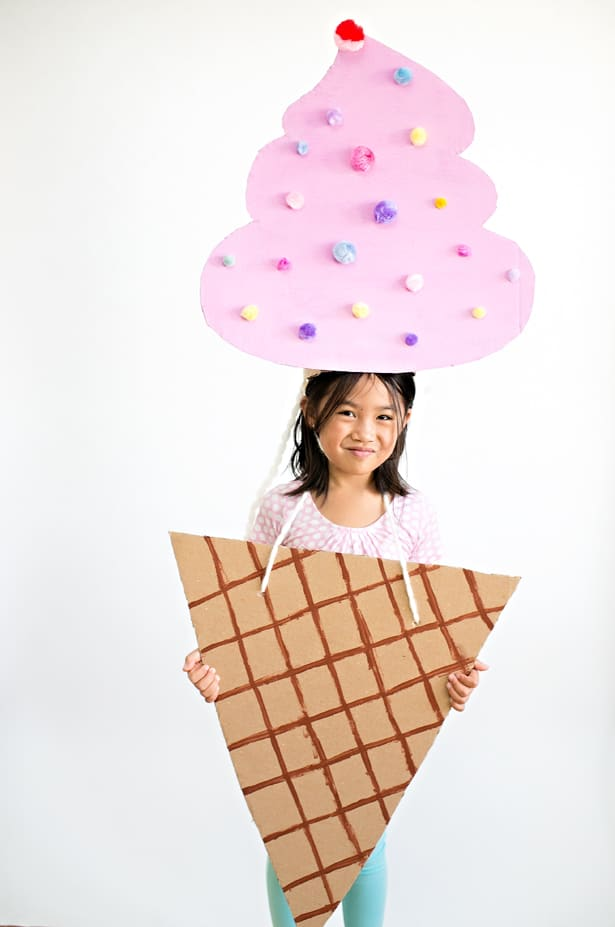 Kids Ice Cream Cone Halloween Costume