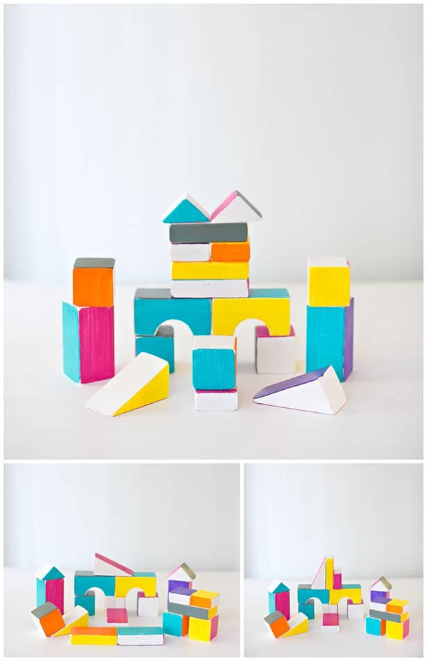 6 easy diy wooden block projects for Plain wooden blocks for crafts