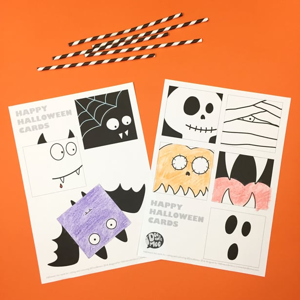 picture regarding Printable Halloween Cards referred to as No cost PRINTABLE HALLOWEEN Exciting Playing cards WITH COLORING Alternative