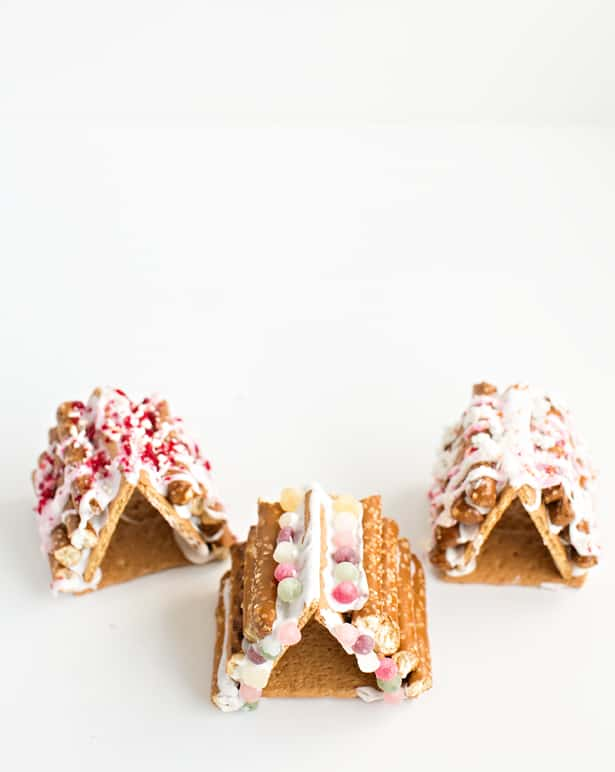 Mini Pretzel Log Graham Cracker Gingerbread House