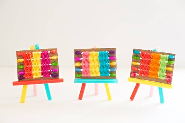 How To Make A Q Tip Weaving Loom For Kids