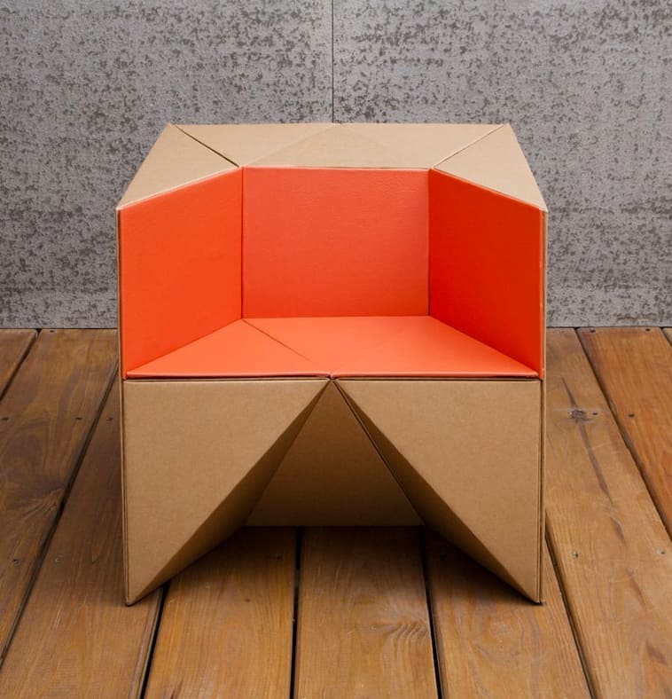 Flexible Cardboard Chair For Kids From S Cube