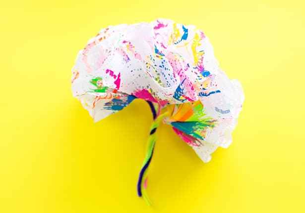 How To Make Spin Art Doily Paper Flowers