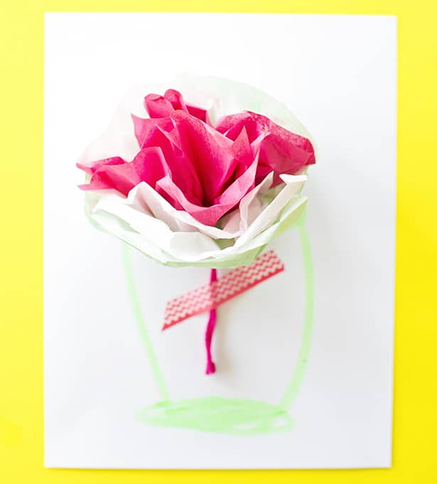 How to make tissue paper flower cards with video check out 20 more kid made mothers day cards and 50 handmade mothers day gifts kids can make mightylinksfo