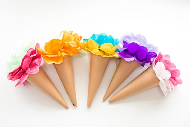 Make tissue paper ice cream cone flowers mightylinksfo