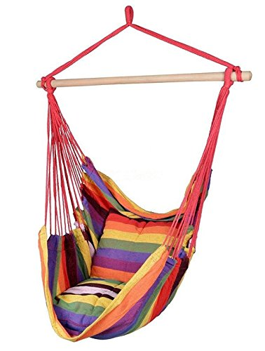 Hammock Hanging Rope Chair Kids Will Love Kicking Their Feet Up In This Fun  And Colorful Hammock Chair Surrounded By Comfy Cushions.