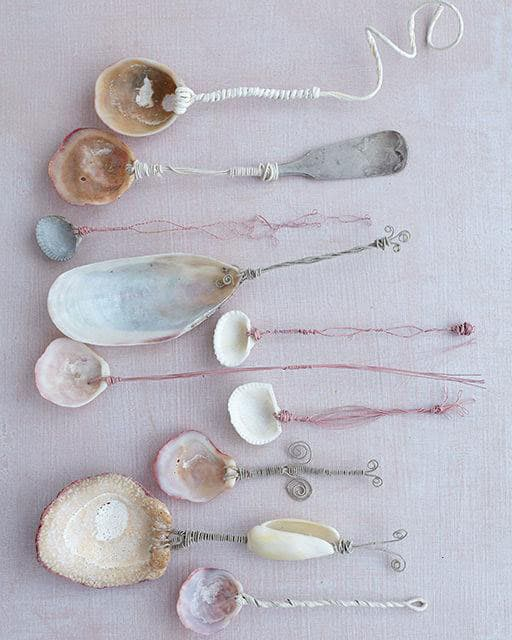 Seashell Spoons (via Sweet Paul) A project for the older kids with some  adult help, you'll both have fun wiring and creating twirly designs for  each ...