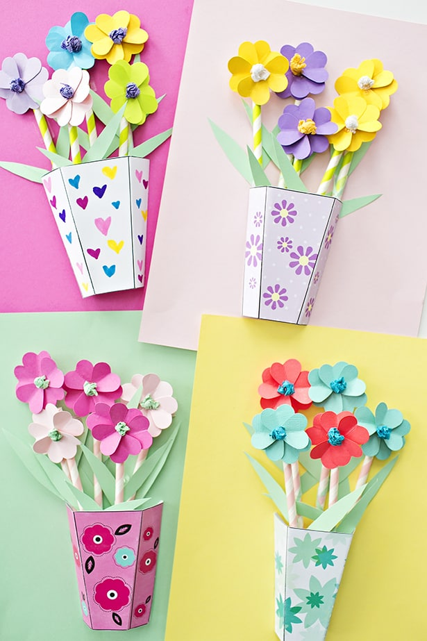 How to make 3d paper flower bouquets with video 3d paper flower bouquets materials mightylinksfo