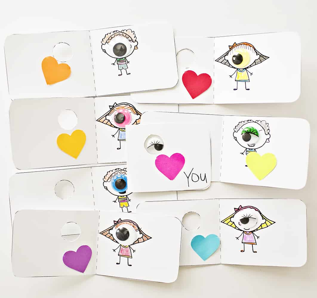 graphic about Printable Googly Eyes called EYE Take pleasure in Oneself COLORING VALENTINE Playing cards WITH Absolutely free PRINTABLE
