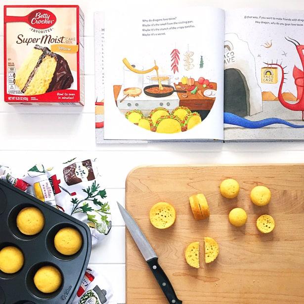 Diy Tiny Mini Taco Cakes Inspired By Dragons Love Tacos Book