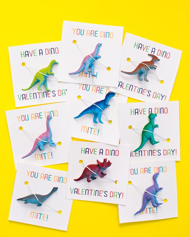 dinosaur valentine favors via hello wonderful