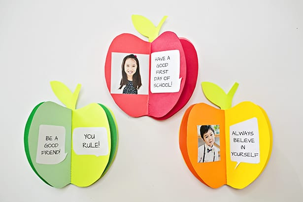 Make A 3d Paper Apple Book Craft