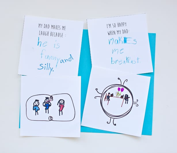 Create an adorable keepsake with our free printable Father's Day book for dad!