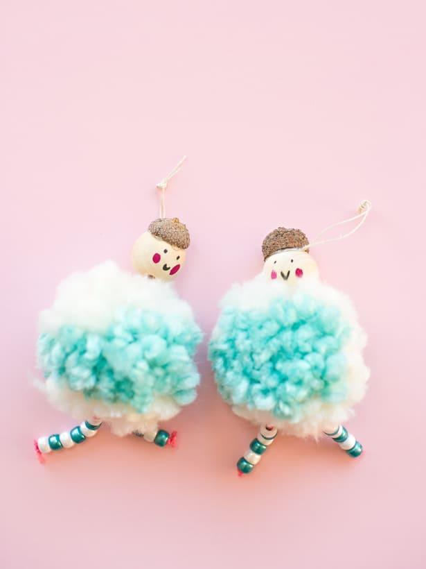 Cute Diy Arctic Pom Pom Doll Ornaments