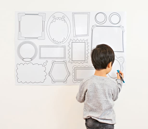 Introducing Plaeful The New Erasable Wall Frames Decal