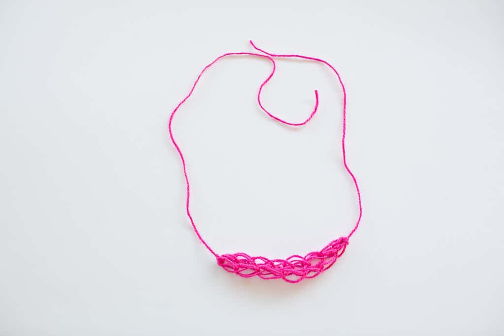 Finger Knitting Starting Knot : Kid made beaded finger knitting necklaces