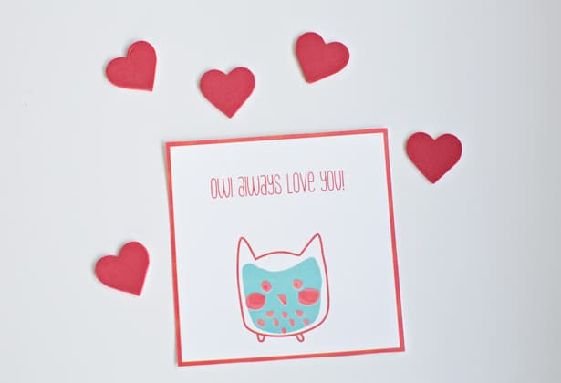 hello Wonderful FREE PRINTABLE WHALE AND OWL VALENTINE CARDS – Owl Valentines Day Cards