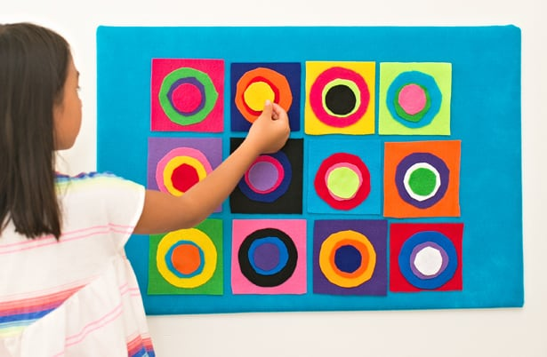 Diy Kandinsky Circles Felt Board Artist Project For Kids