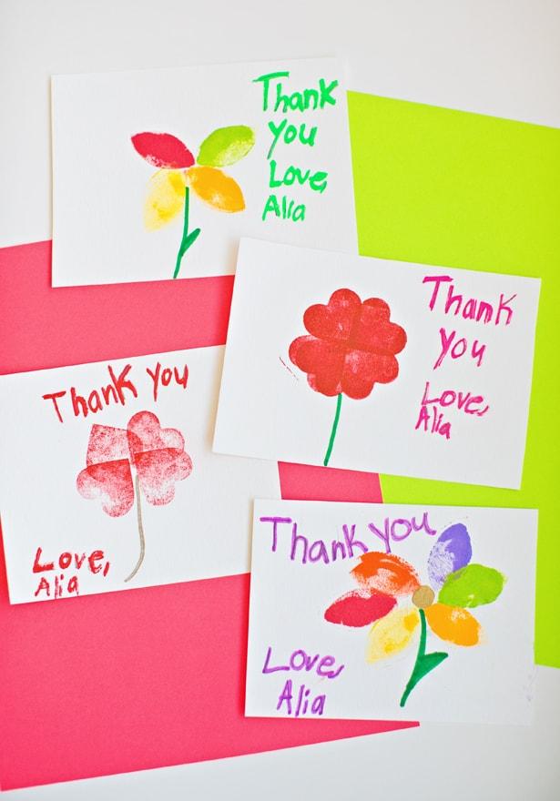 create a thank you card