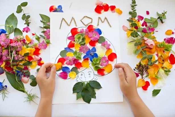 Mother S Day Flower Art With Free Printable