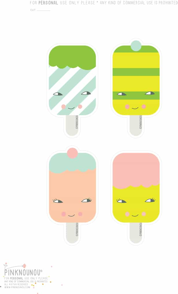 image regarding Ice Cream Template Printable named Totally free PRINTABLE ICE Product PAPER BROOCHES