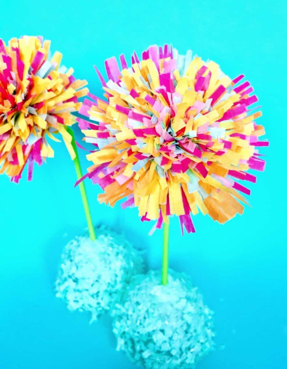 Diy Spring Tissue Paper Fringe Flowers