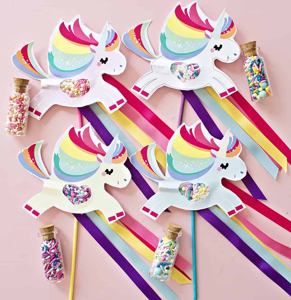 Magical unicorn pooping sprinkles paper craft for Unicorn crafts for kids