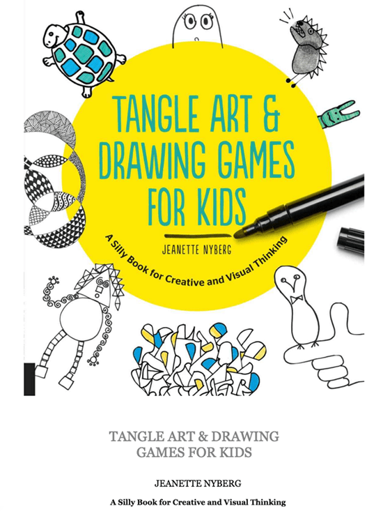 TANGLE ART AND DRAWING GAMES BOOK FOR KIDS