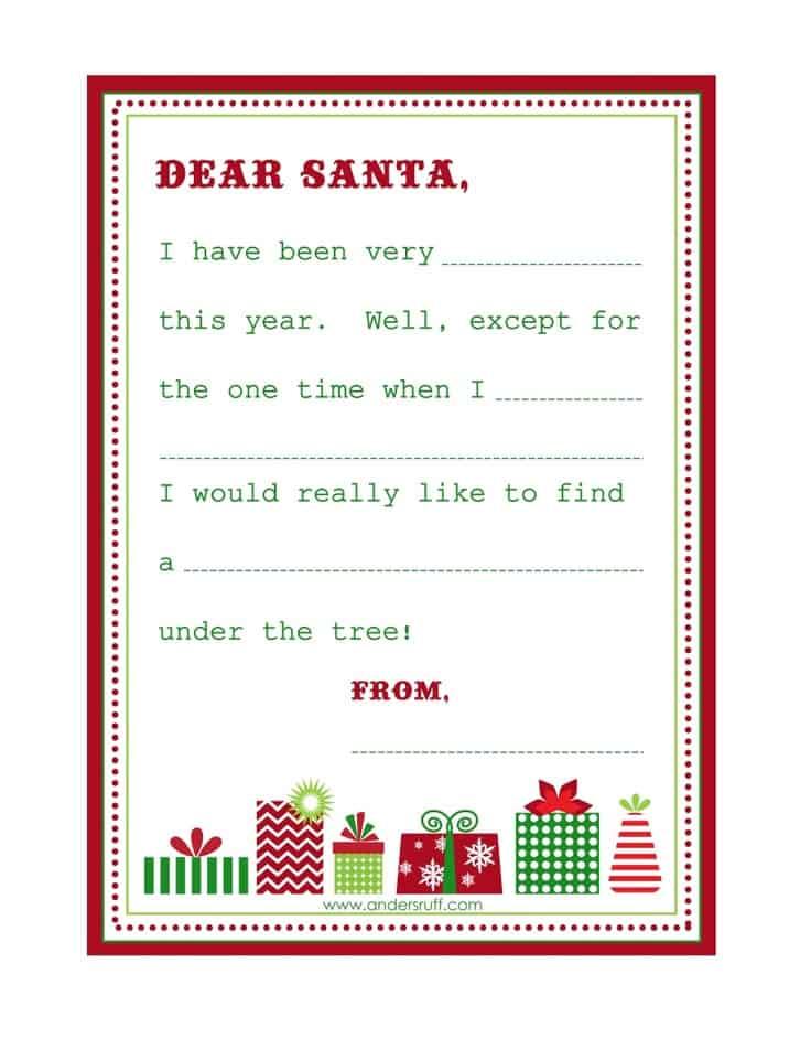 8 free printable letters to santa