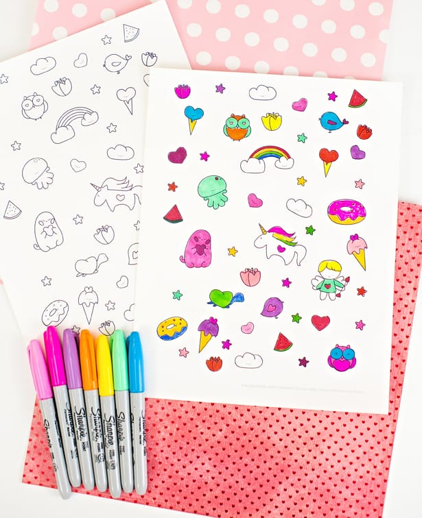 Adorable Free Printable Valentine Coloring Page