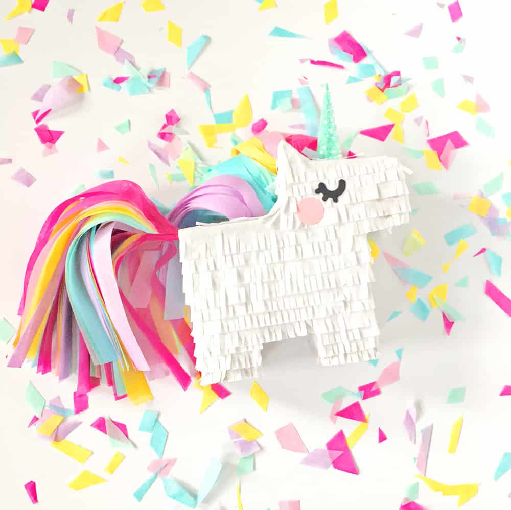 picture about Free Printable Unicorn Template referred to as Do it yourself MINI UNICORN PINATA WITH Totally free PRINTABLE TEMPLATE