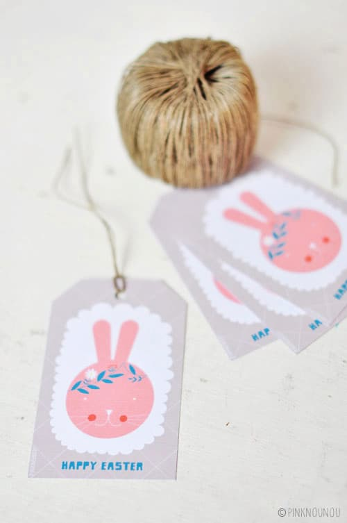 Hello wonderful happy easter free printable bunny tags happy easter free printable bunny tags negle Images