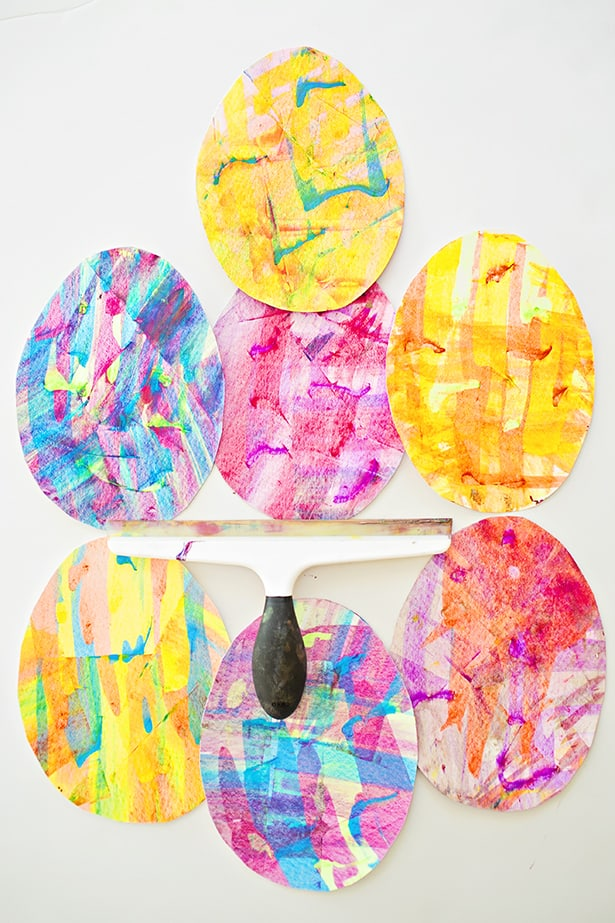 You Can Use These Pretty Marbled Easter Eggs As Cards Decorations Or Garlands To Make Them Smaller Than We Did