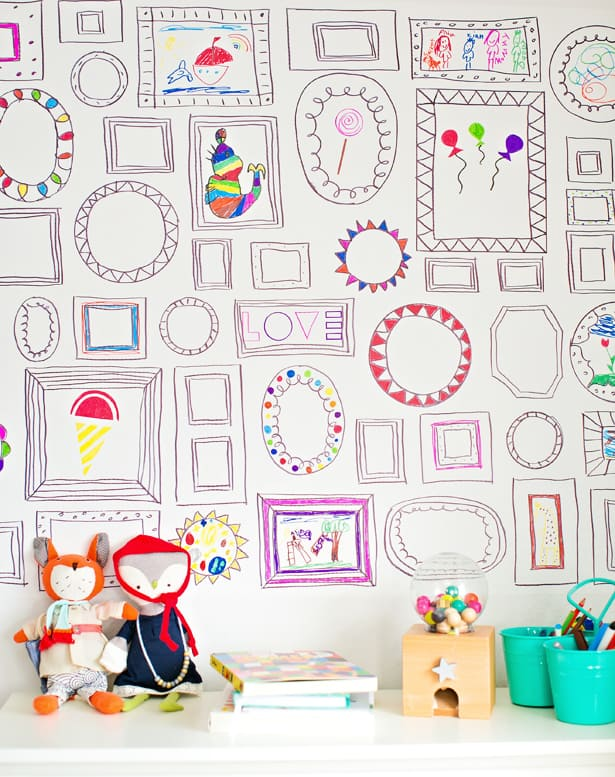 The Wall Is So Bright And Inviting On A Recent Play Date My Daughters Friends Were Instantly Drawn To It Started Coloring Away
