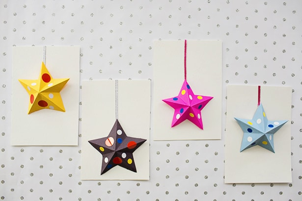 DIY ORIGAMI PAPER STAR CARDS KIDS CAN MAKE
