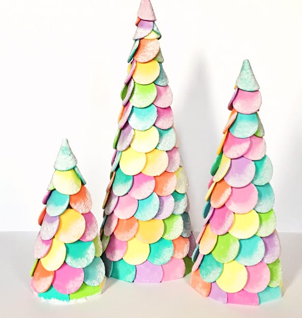 Candy Christmas.Diy Candy Christmas Cone Trees